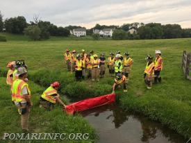 crews learning to raise the water level in a creek